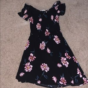 off the shoulder flower dress